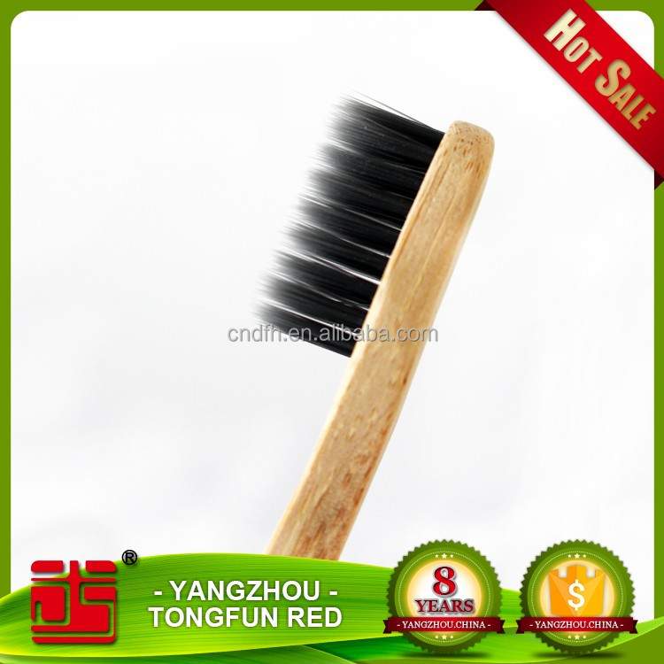 Factory selling black charcoal bamboo toothbrush child holders
