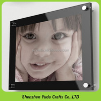 Clear Lens Glasses Wall mounting Dual Layer Panel Magentic Picture Frame