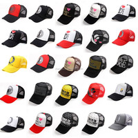 Multiple Colors Fashion Casual Men Women Mesh Trucker Hats Custom Foam Caps