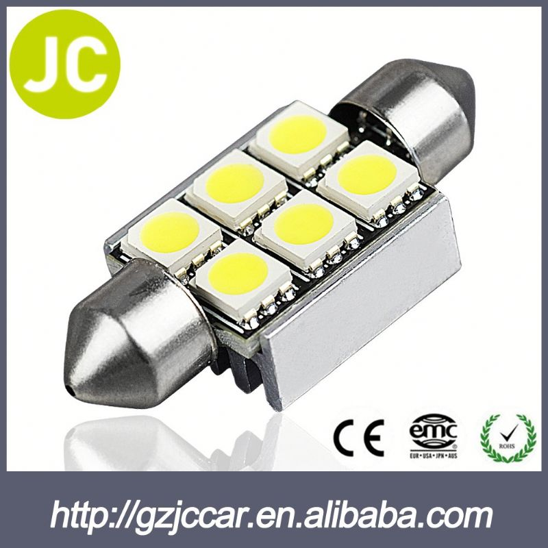 Truck accessory 12 months warranty 12v auto 31mm 12smd festoon for toyota avanza parts