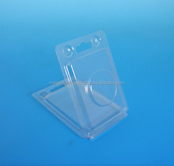 Clear Plastic Hanging Clamshell with Push Locks, Clamshell for COIN