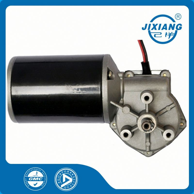 Able to Customized Low Voltage DC Worm Gear Wheel Motor 24V Brushed Motor