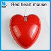 new products heart shaped computer mouse wired heart mouse