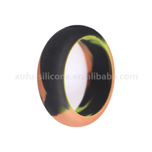 Camo rubber wedding band safety silicone finger rings