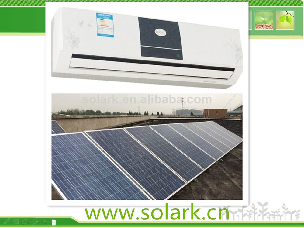 the new product competitive price hot sale number one 24000BTU hybrid solar air conditioner with price per watt solar panels