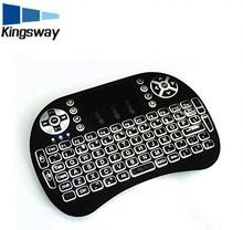 i8 2.4G touchpad led backlit mini wireless laptop keyboard for tv box,musical medical keyboard