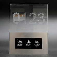 Latest New Crystal Acrylic Hotel Room Doorbell Switch Touch Switch with Room Number