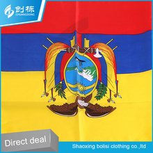 Chinese wholesale national day use satin cheap flag scarves for fans