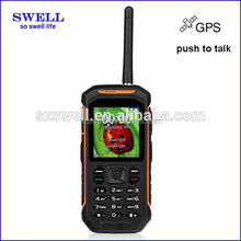 walkie talkie with sim card rugged military smartphone large warehouse management 2.4inch IP67 GPS X6
