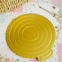 China hot sale cake circles cardboard golden cake boards