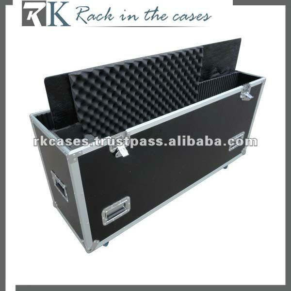 RK aluminium frame,road case ,with dividers,soft foam
