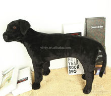 Lifelike size black doy stuffed toys plush bobo dog toys