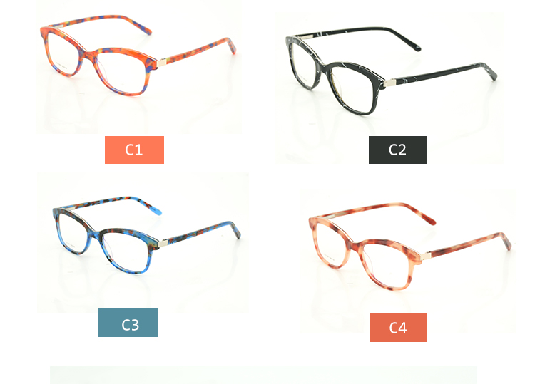Cheap Women Designer Optical Frames Wholesale Custom Made Stock Acetate Eyewear
