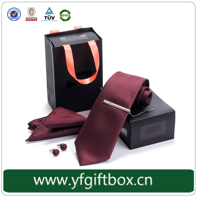 Cardboard Packaing for Tie Printing Matt Lamination Tie Packaging Boxes Wholesale Tie Box