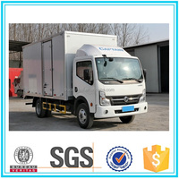 DONGFENG 4x2 1.5 tons light truck van box truck for sale cargo truck sale