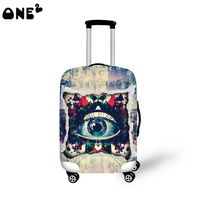 One2 popular design big eyes cheap protective cover luggage girls lady women
