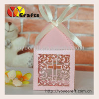 Wedding decoration laser cut wedding indian wedding favor boxes with ribbon from YOYO crafts
