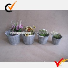 variety sizes vintage indoor decorative zinc container pots planter