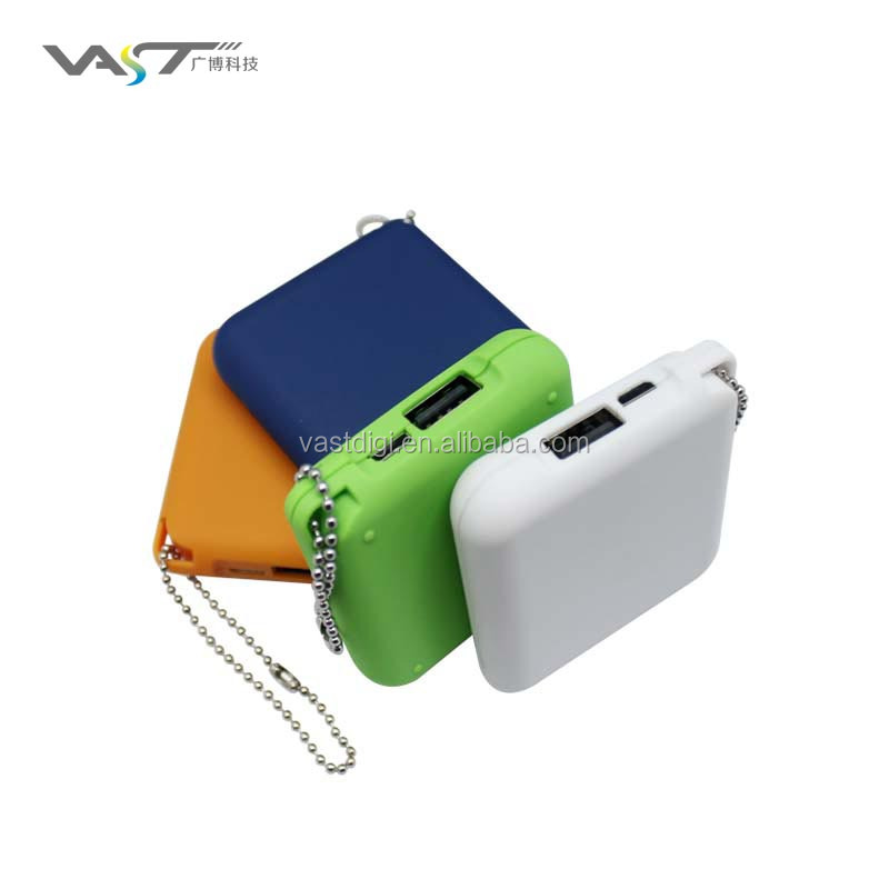 2016 lowest cost promotional gift mini square 1800mAh power bank VPB-J033, logo branding gift item