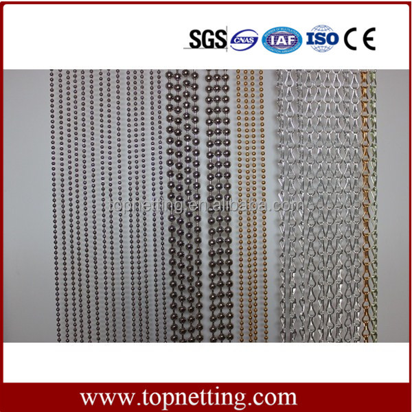 Customized 6mm Metal Bead Ball Chain Door Curtain for Decoration