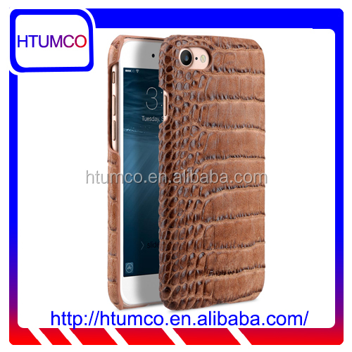 "2016 Snap Cover Brown Crocodile PU Leather Case for Apple iPhone 7 (4.7"")"