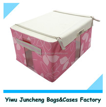 Pink Printing Fabric Closet Storage&Organization for Miscellaneous Products