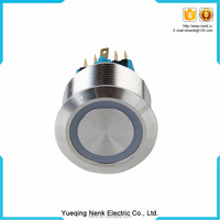 Chinese factory price 19mm metal push button switch,LED lighted Metal push button