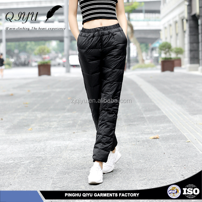 Factory Direct lady down pants for women
