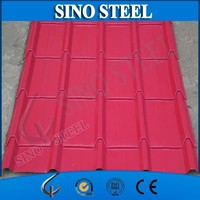 Prepainted Corrugated Steel Roofing Sheet and Metal Roof Covering