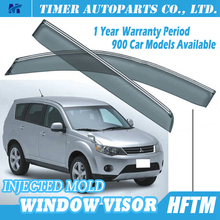 warranty -1 year period injected mould custom car window visor for Mitsubishi outlander 2007