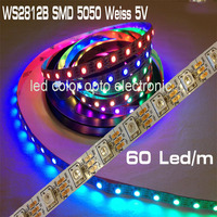 best selling DC5v digital WS2812B led strip color change smd 5050 rgb led strip with WS2812B IC