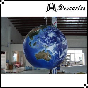 Custom printing large inflatable Earth helium sphere for commercial use