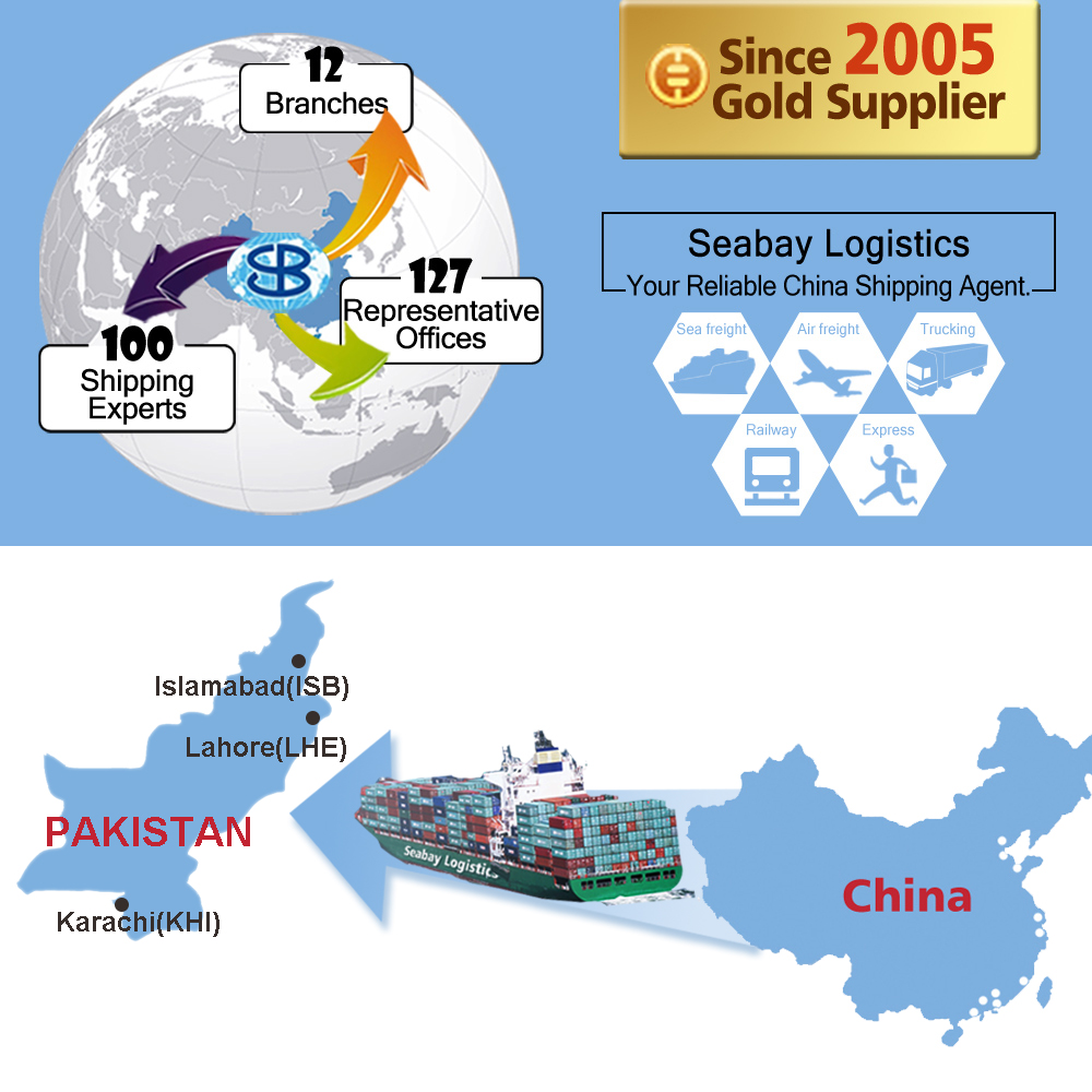 Cheap ocean sea freight container forwarder shipping rate from china to port karachi pakistan