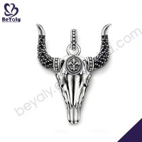 Cattle shape silver jewelry necklace pendant brand