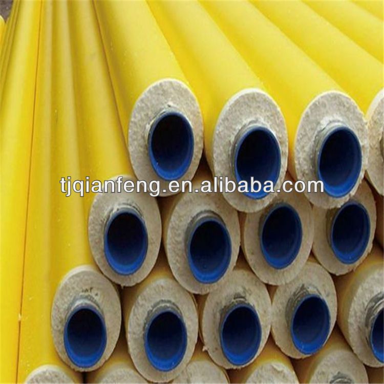 yellow jacket polyurethane foam heat insulation steel pipes