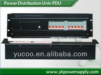 alibaba website 12 channels 32A power distribution box with alarm function