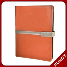 faux leather customized size leather zipper document folder