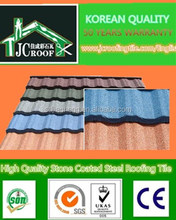 Plain Roof Tiles Type and Coloured Glaze Material soundproof stone coated steel roofing sheet