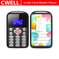 AEKU M9 0.96 Inch Monochrome LCD Mini Size Credit Card Mobile Phone