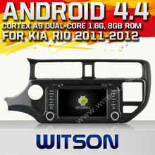 WITSON Android 4.4 car dvd for KIA RIO 2012 WITH CHIPSET 1080P 8G ROM WIFI 3G INTERNET DVR SUPPORT