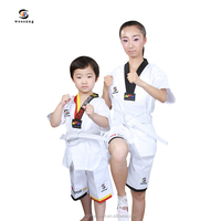 High quality Taekwondo uniform student TKD uniform for kids adult karate uniform 100%poly/cotton