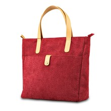 Languo Fashion red PU Hand Bag Leather Women Handbags for wholesale