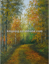 Unframed Landscape Oil Painting On Canvas In Discount Price