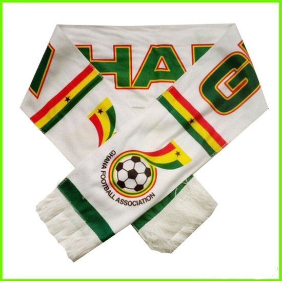 Ghana country flag thick knit scarf football scarf