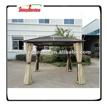 Shinygarden Heavy Duty Galvanized Steel Hardtop Patio Gazebo