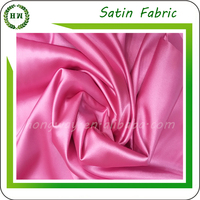 Bridal satin fabric for wedding dress and textile, 109 different colorful Bridal Satin fabric, hongway