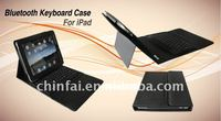 Silicon Bluetooth keyboard with leather case for iPad accessaries