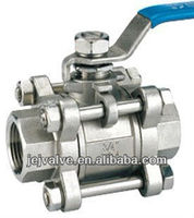 2000 WOG three pieces SS316 ball valve
