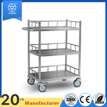 Strong stainless steel heavy duty canteen cafes bars hotel dining service cart