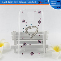 Ultra Thin Transparent Crystal Clear Hard PC Case Cover For Samsung S5 i9600 With Diamond